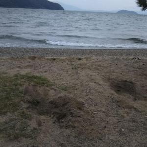 週末は琵琶湖にキャンプへ  その①