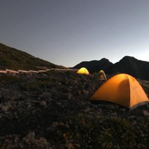 ちょっと今から縦走してくる 2日目前半 〜五色ヶ原、鳶岳、スゴ乗越小屋〜