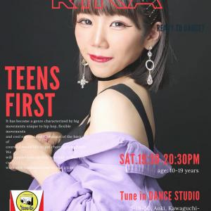 【土曜19時半】TEENS FIRST (Tune in DANCE STUDIO川口
