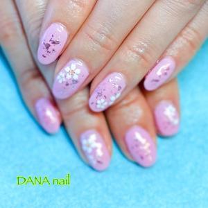大人のピンク◆桜ネイル