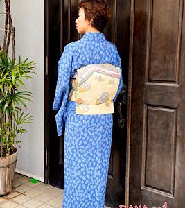 宝尽くし柄江戸小紋×お庭柄袋帯