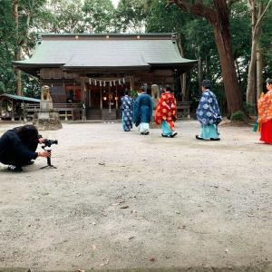 撮影中 諏訪八幡神社