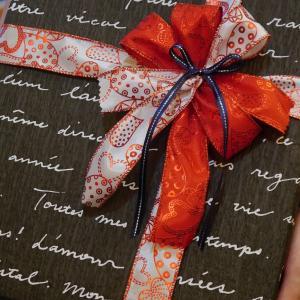 持ち込みラッピング事例 誕生日プレゼントのブーツ