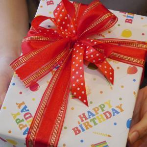 持ち込みラッピング事例 誕生日プレゼントのキャンプ道具