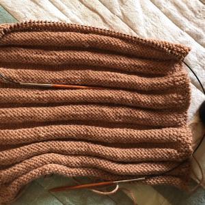 【編みもの】メリヤス編み矯正練習(地味…)