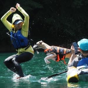 今年で10年!四尾連湖カヤック2021・一発目。お初のハリ江。