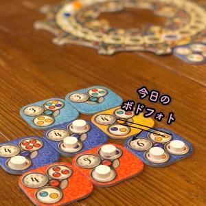 【今日のボドフォト】月の満ち欠けをテーマにしたタイル配置パズルのボードゲーム!