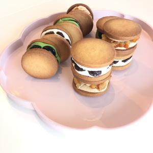 流行のクッキーサンド♪