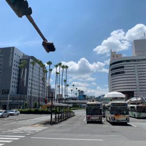 徳島駅前の風景