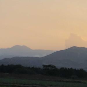 阿蘇山の噴煙