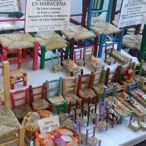 グラナダ伝統工芸可愛すぎるゴッホの椅子☺