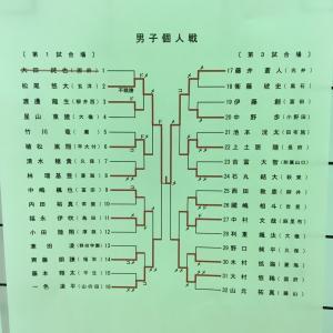 山口県中学校剣道新人戦を大会