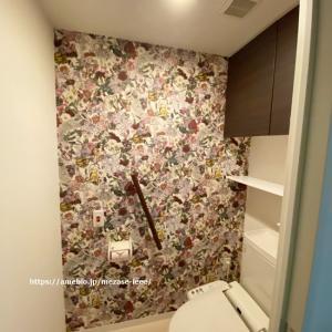 【インテリア】トイレにやっばいアクセントクロス貼りました