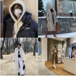韓国旅行 【ユナ – ファン·シネ】のように…ダウンの代わりに『シアリングジャケット』♪