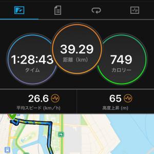 2020.11.29朝練〜大井埠頭サイクリング