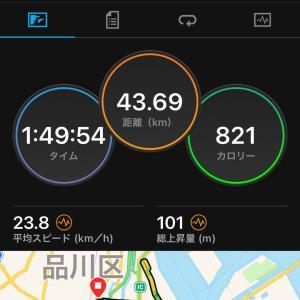2021.08.22朝練〜大井埠頭サイクリング