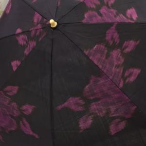 着物の生地で日傘をオーダー