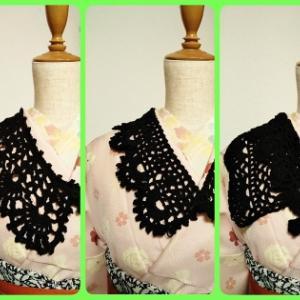 手編みの付け衿