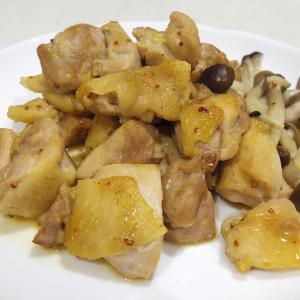 マスタードがピリッと香る「鶏むね肉のハニーマスタード炒め」