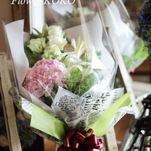 【生花レッスン】ご卒業&ご入学の季節❀ 花束を自分で作ってプレゼント☆彡