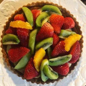 【ケーキ作り】得意のフルーツタルトを焼きました❀ おうち時間もなかなか楽しいかも☆彡