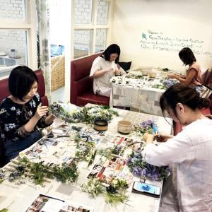 【シラチャレッスン】7月のレッスン#七夕の日、お茶を頂きながらの楽しい制作会でした☆彡