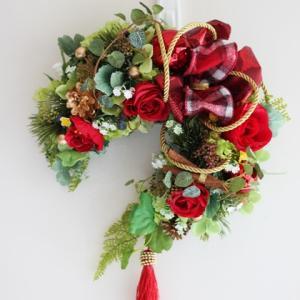 【クリスマススワッグ&リース】皆様とてもお上手☆彡クリスマス作品は華やかな気分になりますね❀