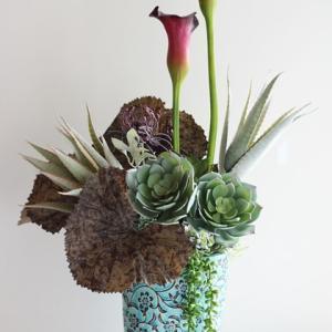 【素敵な花器で】ホテルライクなお花を素敵な花器で❀インテリアとしてのアレンジメント