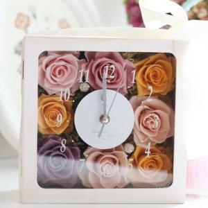 【花時計】スクエア型#花時計#最後の1つ#とても素敵に制作頂きました☆彡