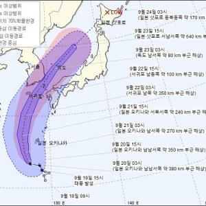 速報!!く~!!大荒れ台風の釜山から帰ってきました!