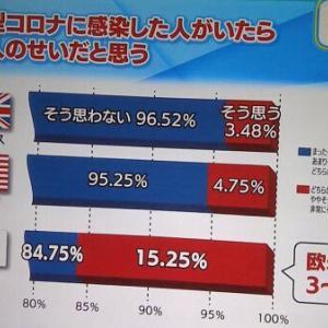 某テレビ局のコロナのアンケート結果をテレビに写したグラフがあまりにも酷かった