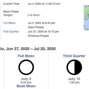独立記念日は満月