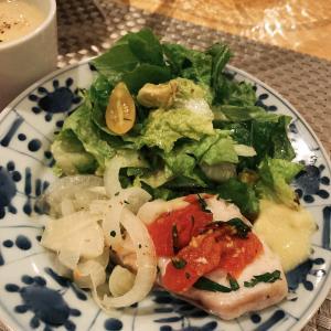 カジキマグロ&すり鉢で作ったアイオリソース