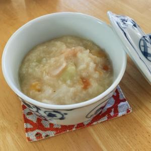 生米から高圧10分でトロントロンのお粥