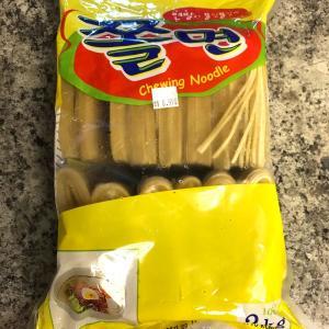 韓国のモチモチ麺と韓国のイカの塩辛で簡単冷やし麺