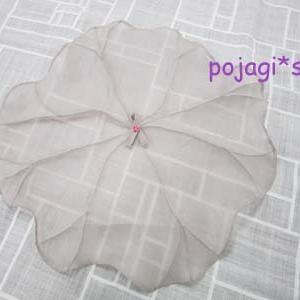 シルクで作る葉っぱのサンポ(覆い)