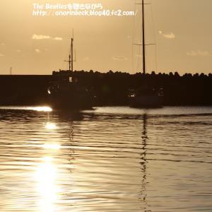 夕暮れ時の保田漁港