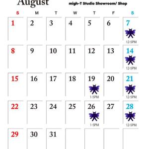 8月のmight-T  ショールームのオープンと「咲くやこの花館」