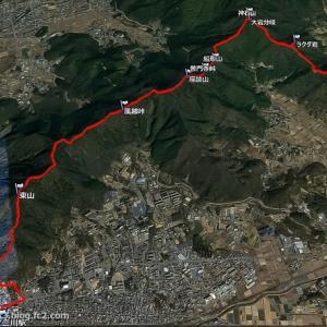 登山口へ 湖西連峰縦走
