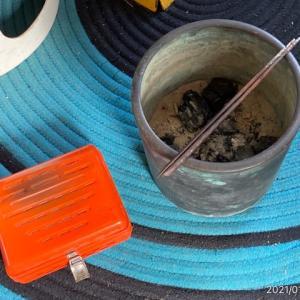 豆炭アンカと火鉢
