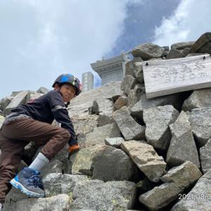 奥穂高山頂 3190メートル