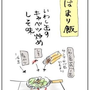 いわし缶と紫蘇
