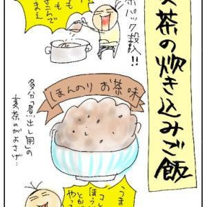 麦茶の炊き込みご飯