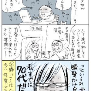 単行本制作☆怒涛の原稿2「執筆作業で老け込む」