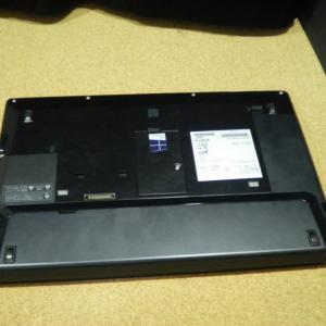 Lifebook S904HのHDDをSSDに換装しました。