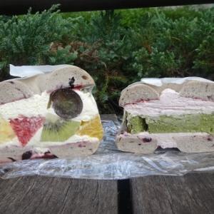 トライベッカ @呉*ベーグルサンド フルーツサンド、抹茶ベイクドチーズケーキ&ラズベリークリーム