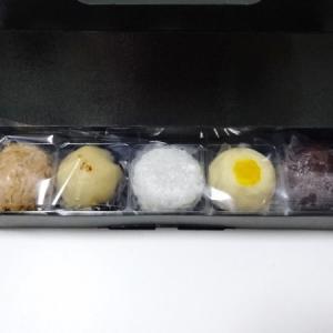 たねや@日本橋三越催事*ぼたもち(粒あん、はちみつバター、ピスタチオ、ラムレーズン、黒蜜きなこ)
