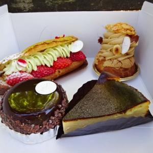 ヒロヤミナミサワ @西荻窪*エクレア、バスク風チーズケーキ、パリブレスト、タルトショコラ