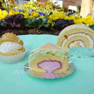 マッターホーン @学芸大学*ロールケーキ、シュークリーム、ピスタチオとベリーのロールケーキ