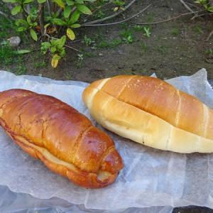 塩パン屋 パン・メゾン @塩パンサンド 塩ミルクフランス、塩パンのフレンチトースト